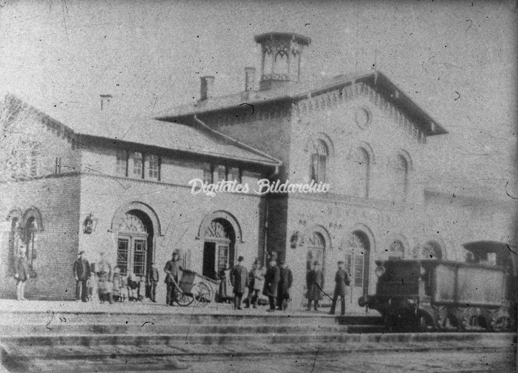 Bevenser Bahnhof um 1885