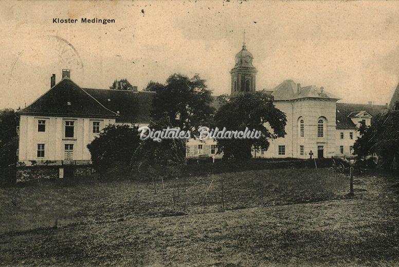 Historische Ansichtskarte vom Kloster Medingen um 1930 - Auch Bevenser Handwerker spielten eine Rolle