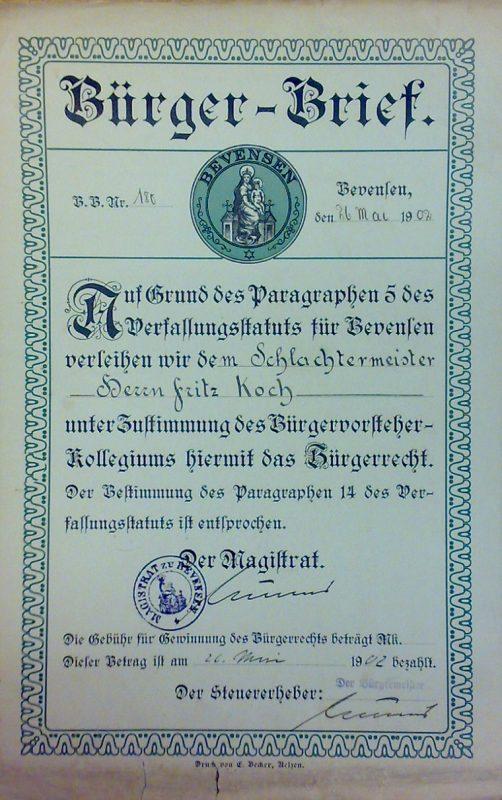 Bürgerbrief Bevensen - Bürgerrechte